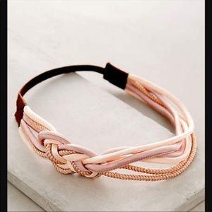 Anthropologie pink woven headband